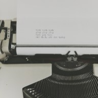 messages left on the typewriter