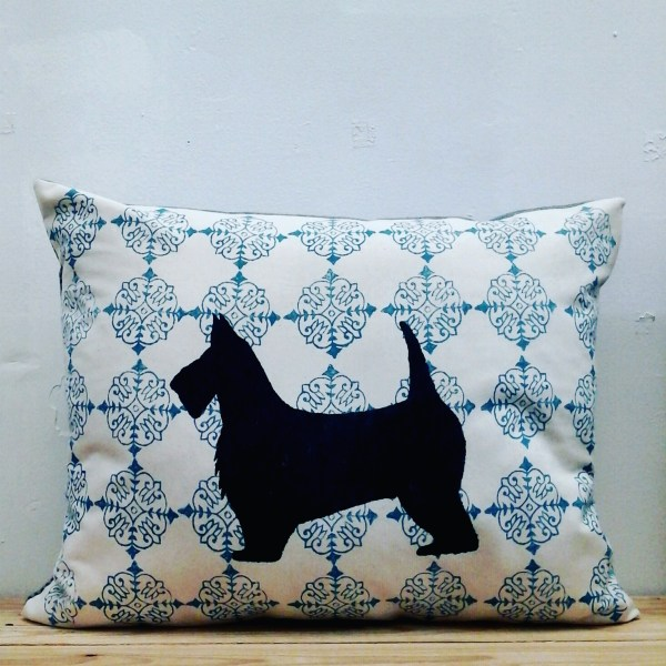 Block printed cushion by Coulter & Coulter