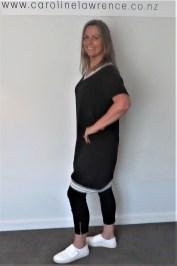 Grey Marle trim Dress (2)