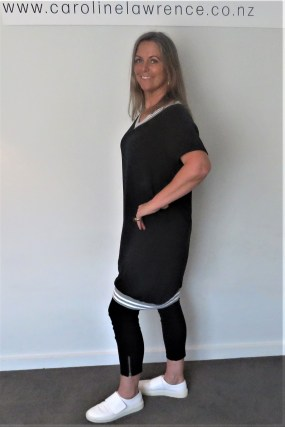 Grey Marle trim Dress (2)