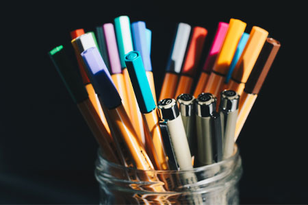 Pens at the Worktable