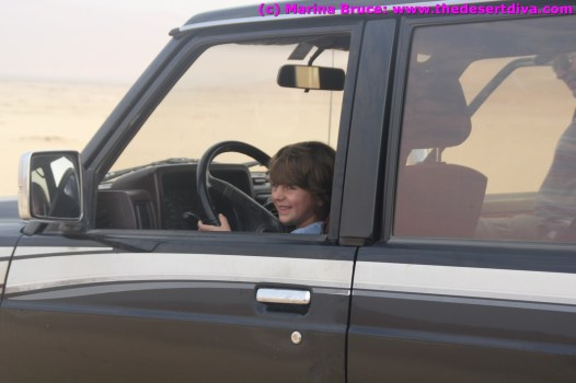 Hector (aged 6) took the wheel of Neil's car for a bit