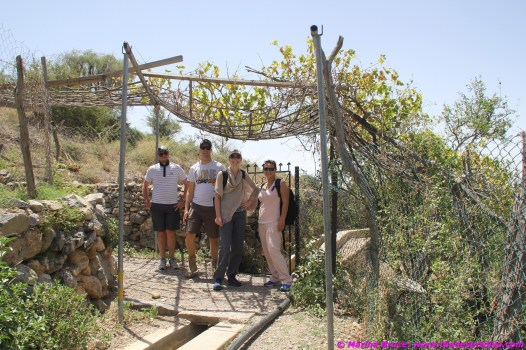 some of our group on their trek