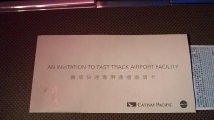 Cathay Pacific FastTrack invitation