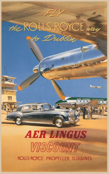 Aer Lingus Viscount - Rolls Royce Engines Poster