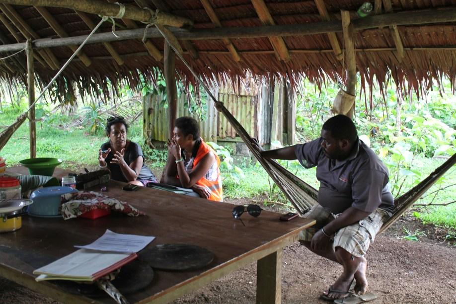 Interviewing at Loriere Karkar (Loriere Karkar, Santo)