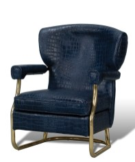 Blue Crocadile leather chair