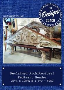 arch pediment header POP
