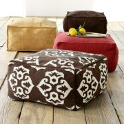 West Elm Square Poufs