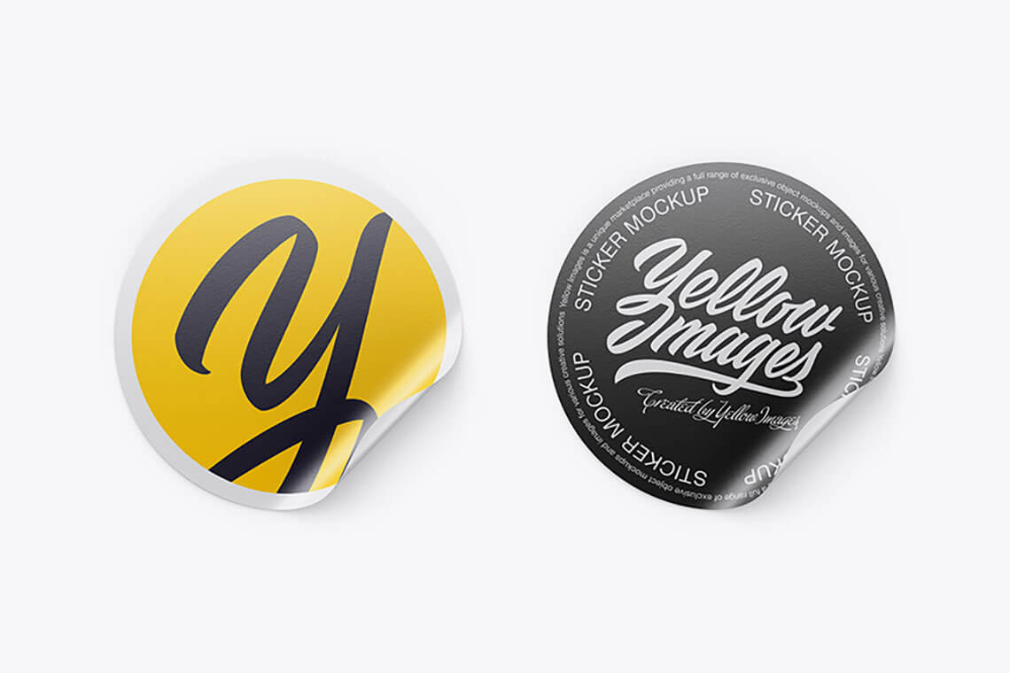 Download Packaging Logo Stickers Yellow Images