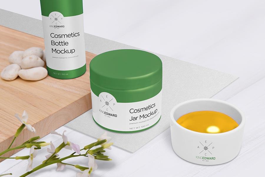 Download Cosmetics Mockup Scene Generator Free Yellowimages