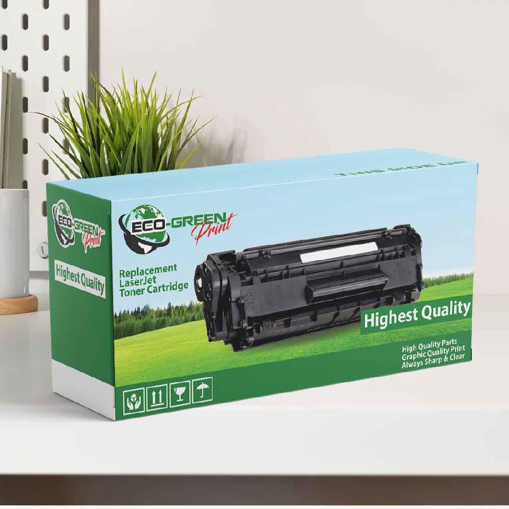 กล่องผลิตภัณฑ์หมึกเครื่องพิมพ์เลเซอร์ Eco Green