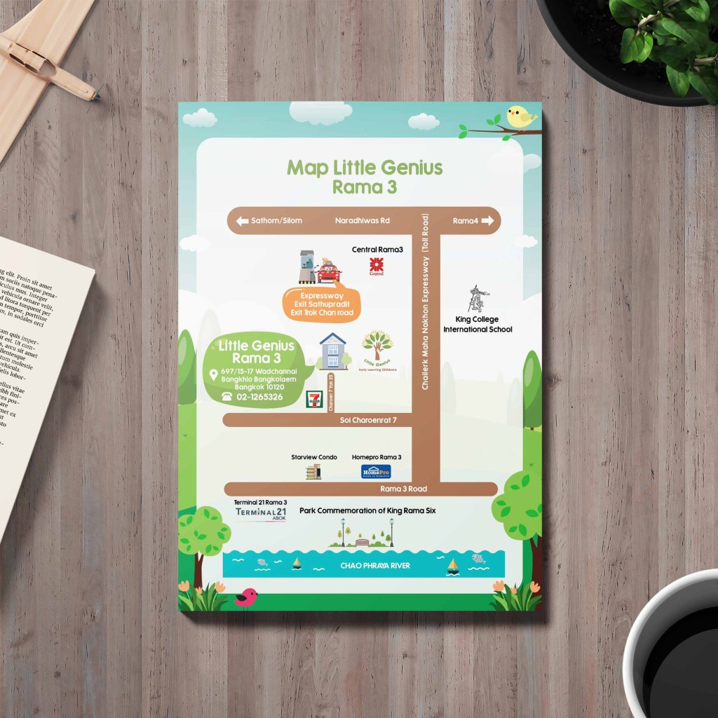 แผนที่ little genius Rama3