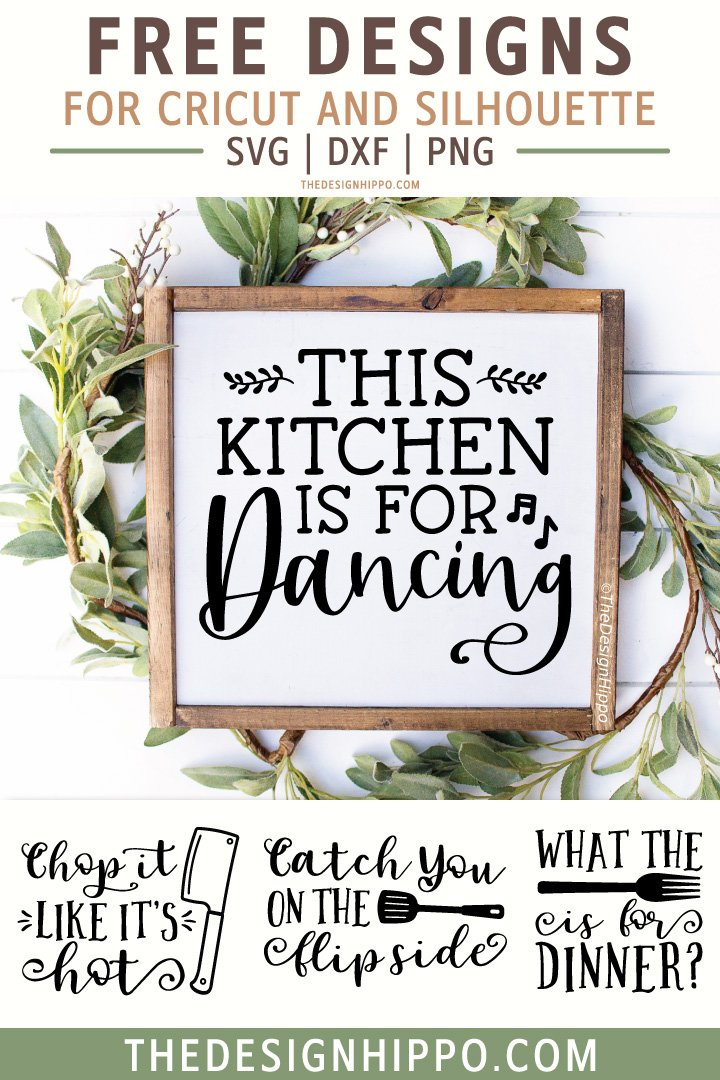 Download 4 Free Funny Farmhouse Kitchen SVG Cut Files for Cricut