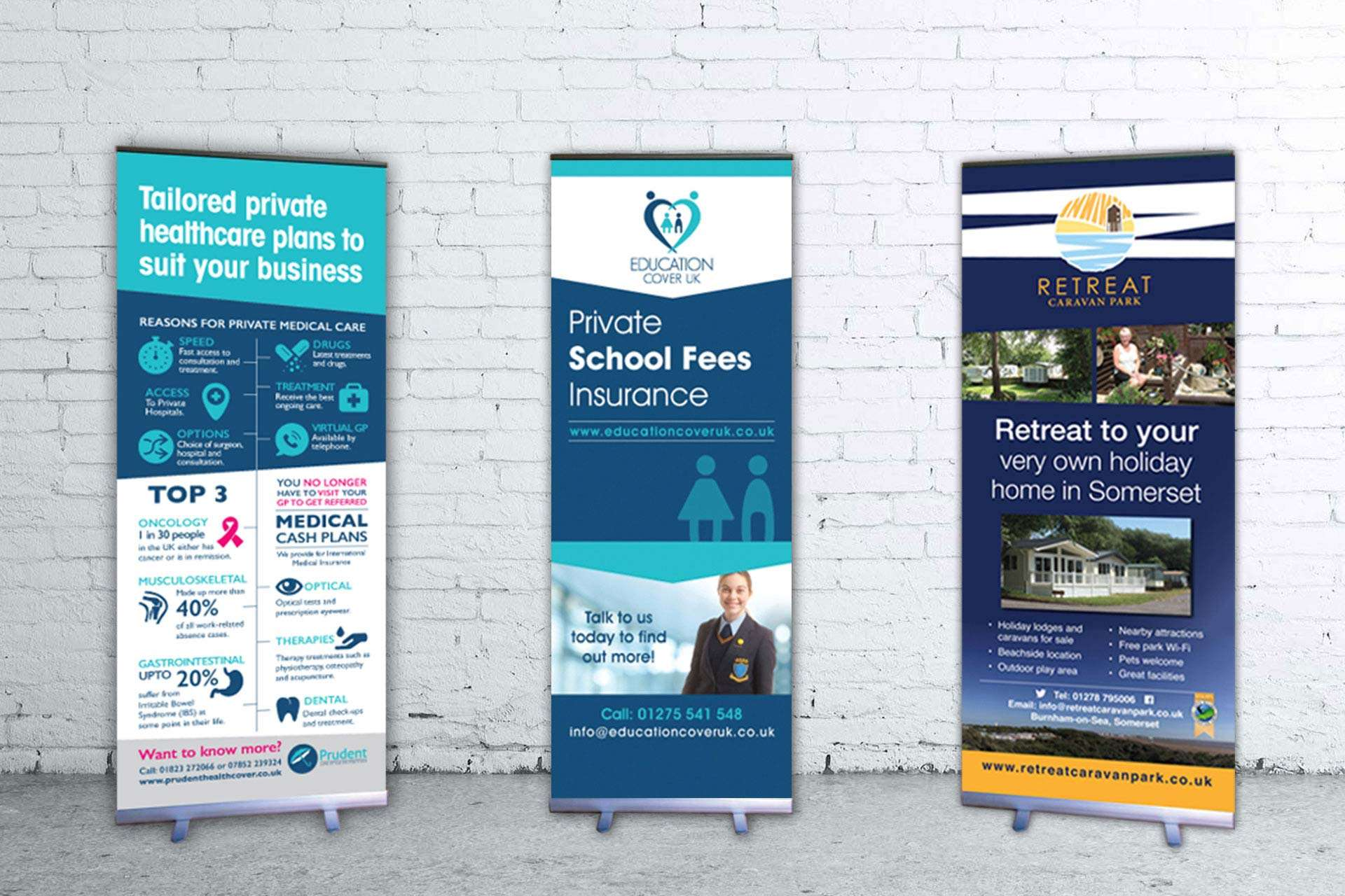 Banner design for educational insurance company based in Clevedon, North Somerset