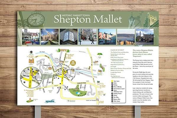 Countryside interpretation panel design for Shepton Mallet