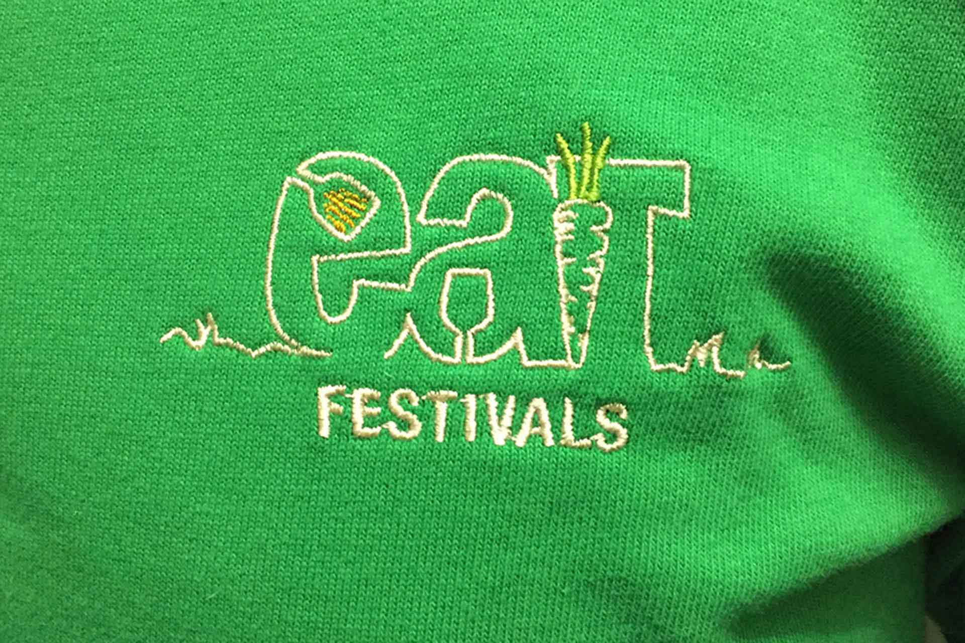Embroidered clothing with logo design, Somerset