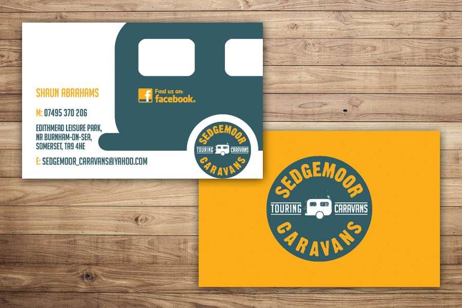 Sedgemoor caravans business cards