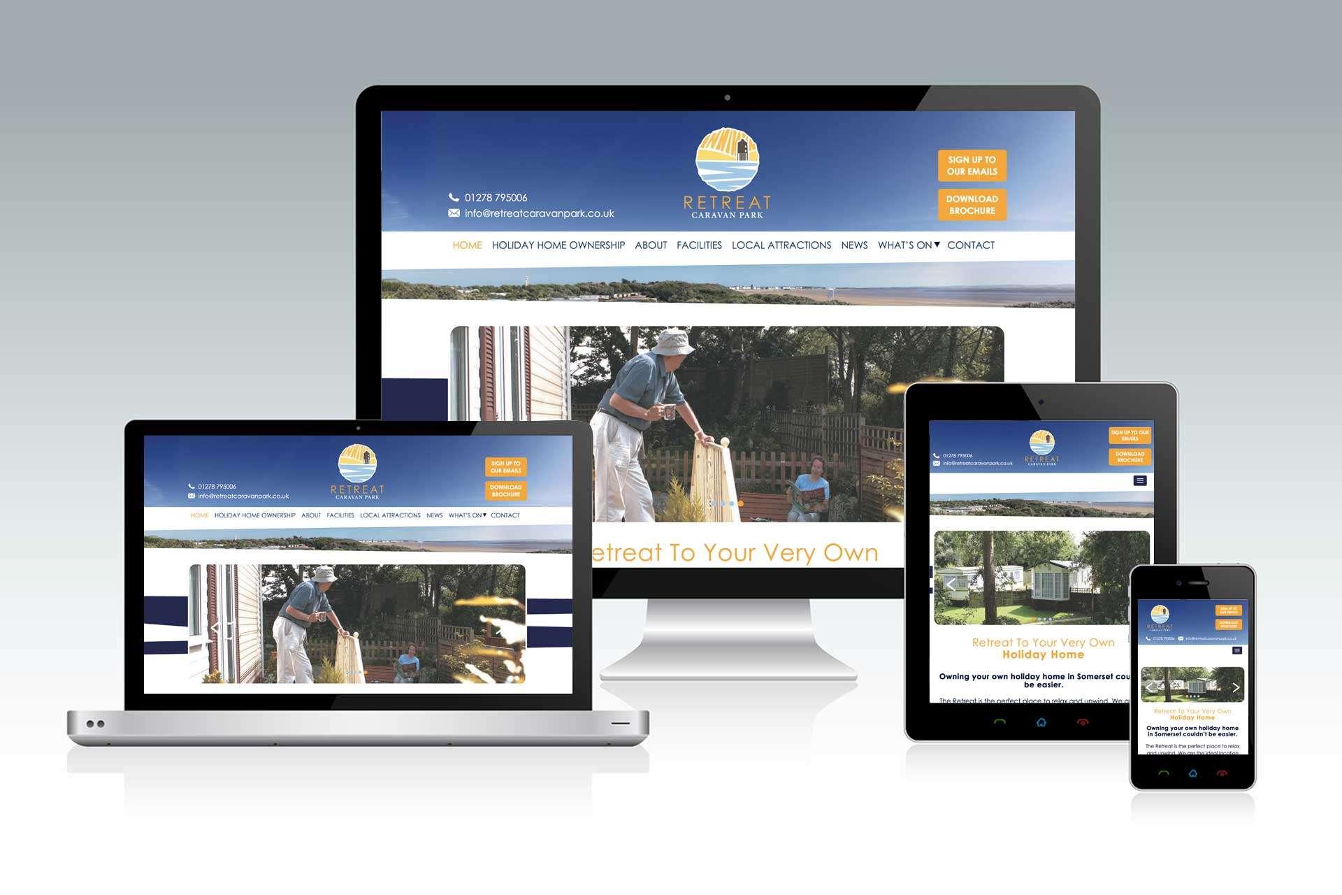 Website design for holiday park in Burnham-on-Sea, Somerset