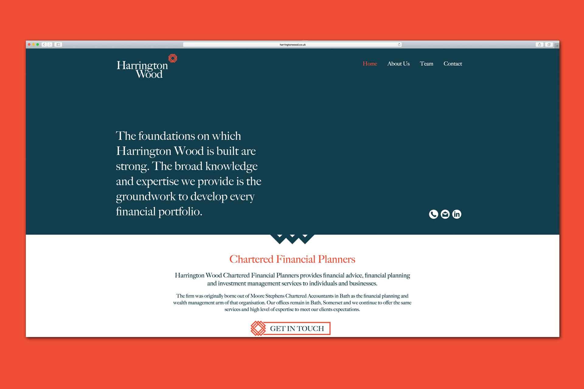 Custom built website