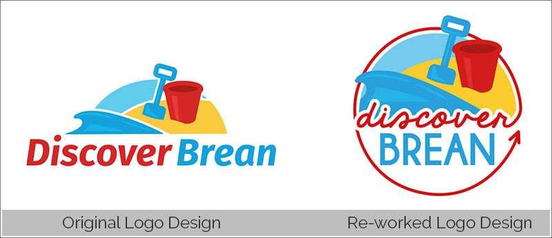 Discover Brean Old & New Logo Design