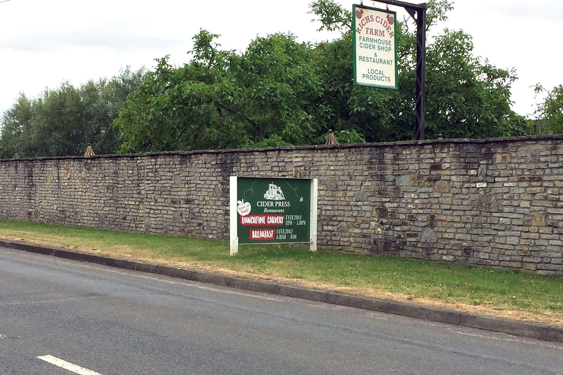 Rich's Cider Farm | Menu & Signage Design | Somerset