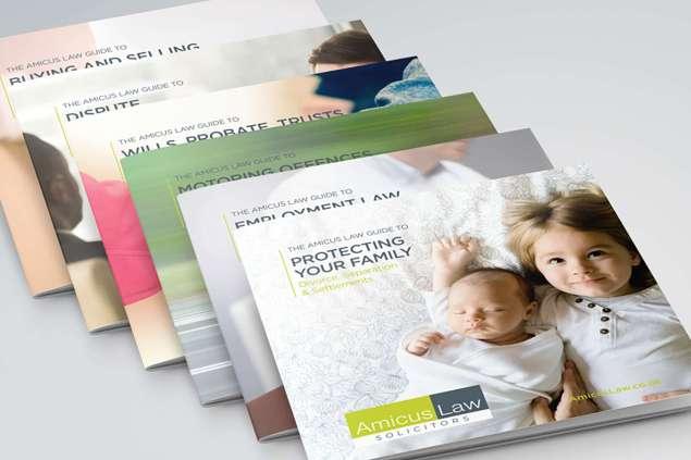 Amicus Law Solicitors Brochure Design, Somerset