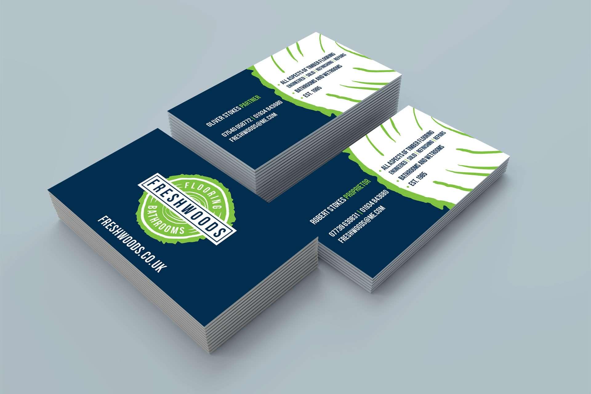 Freshwoods flooring bathrooms business cards somerset