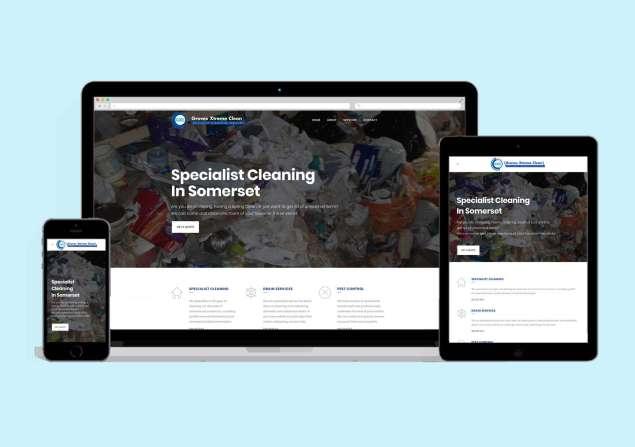 groves xtreme clean website design somerset