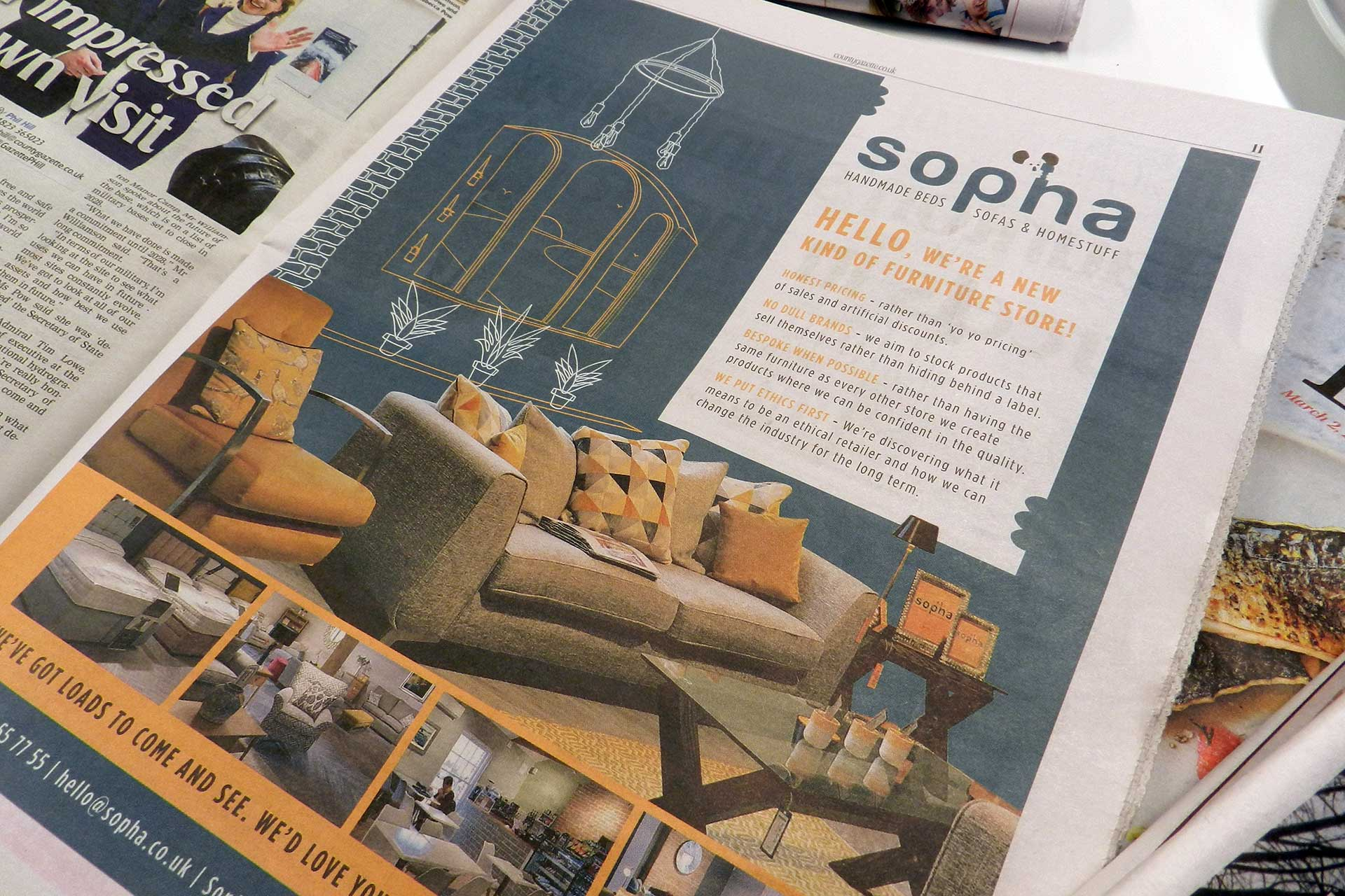 Sopha-furniture-advert-illustration-Highbridge The Importance of Branding & Graphic Design in a Business