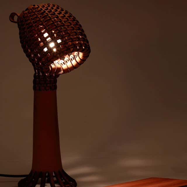 Kob Leather Lamp By Tjiang Supertini