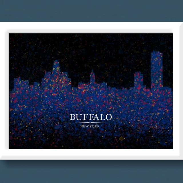 The Design Jedi - Digital Painting - Buffalo, NY Skyline