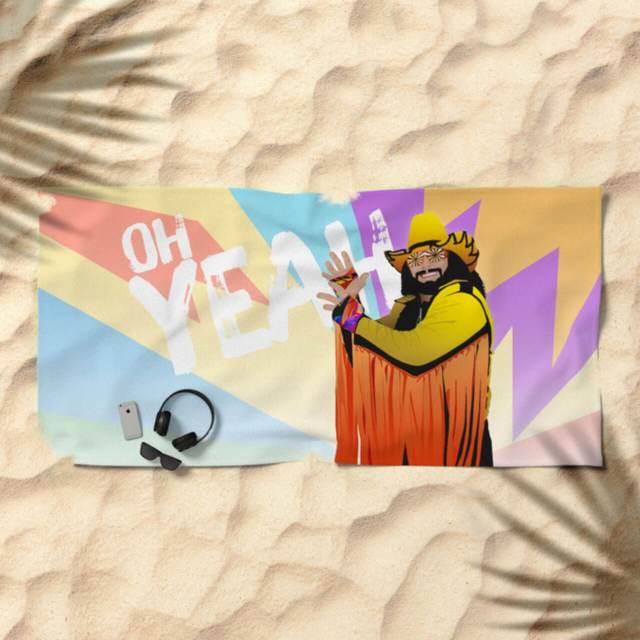 Randy Macho Man Savage Design | Beach Towel | The Design Jedi