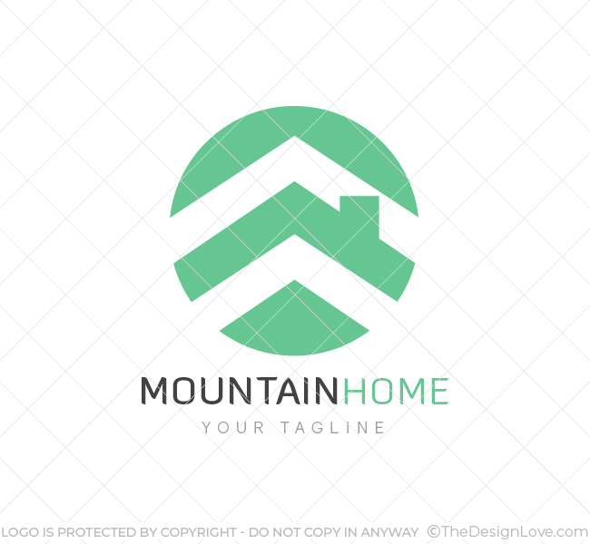 Mountain Homes Realty Logo Amp Business Card Template The Design Love