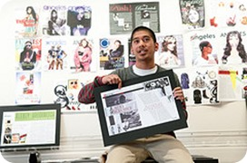 FIDM Graphic Design School Student Shows His Work