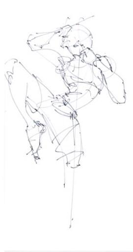 Muay thai drawing Chou Tac Chung