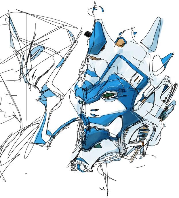 Samurai robot - gundam inspired