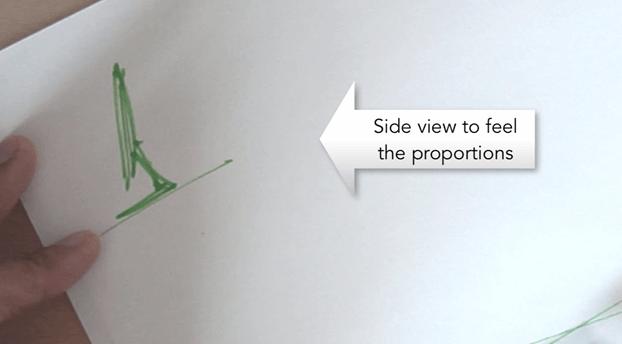 Mac Side view Sketching with Pantone Tria