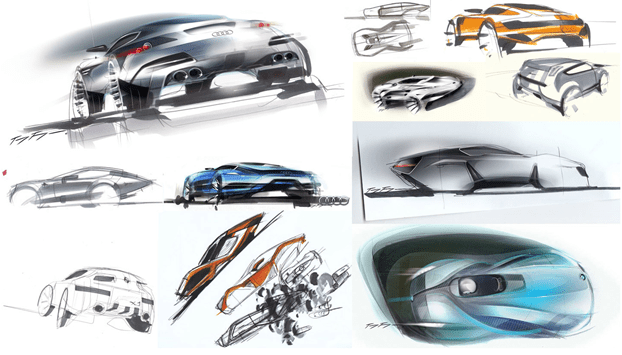 Toyfon sketches of car