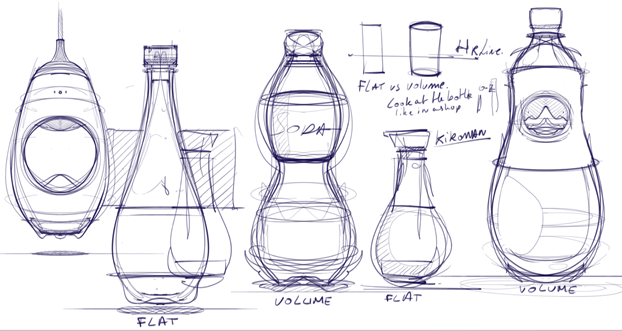 How to draw bottles sketchbook pro industrial design sketching