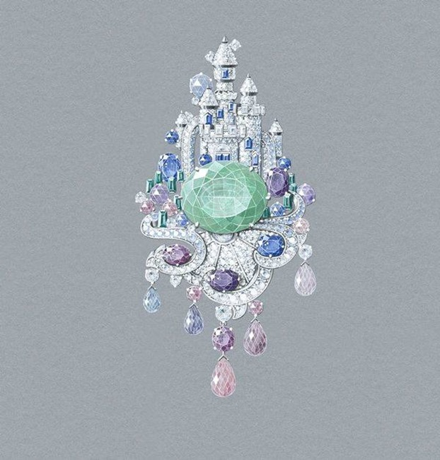 Van Cleef and Arpels - Disney Castle inspired - Illustration