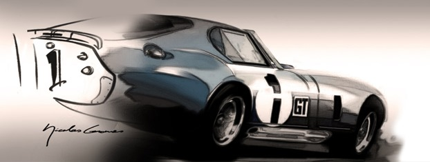 Vintage car on Photoshop