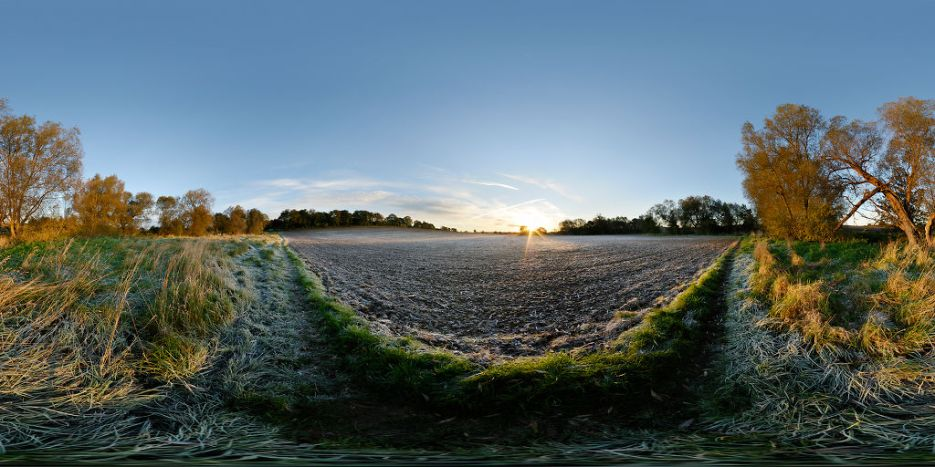 Sunrise over ploughed field, Market Harborough