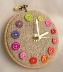 Buttons Clock by Mason Bee