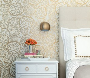 Home of Jess Lively - the amazing wallpaper is by Oh Joy! for Hygge & West! | via Design*Sponge