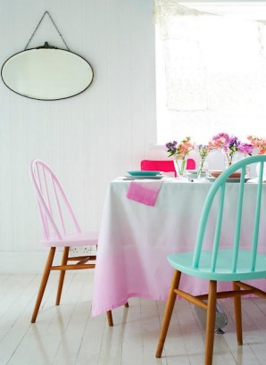 A beautiful soft pastel dining room | via charlottelovey.blogspot.co.uk