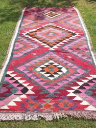 Vibrant Woven Persian Kilim | http://www.etsy.com/listing/107009821/vibrant-woven-persian-kilim-8-ft-x-4-ft?ref=af_circ_favitem&atr_uid=12821784