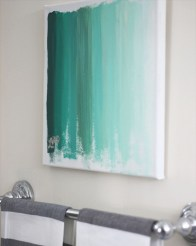 DIY Ombre Art | http://www.twodelighted.com/2012/02/21/ombre-art-diy/