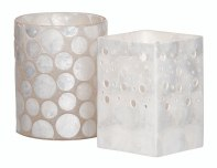 Capiz Shell Candle Holders from Loads of Living | via http://www.loadsofliving.co.za/decor.aspx