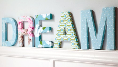 IDEAS Fabric Covered Letters DIY (5)
